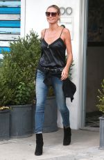 HEIDI KLUM in Jeans Out and About in New York 08/26/2015
