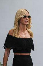 HEIDI KLUM Out and About in New York 08/12/2015