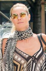 HEIDI KLUM Out and About in New York 08/20/2015