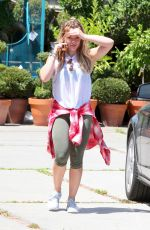HILARY DUFF in Leggings Out and About in West Hollywood 08/05/2015
