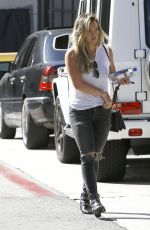 HILARY DUFF Out and About in Beverly Hills 08/13/2015