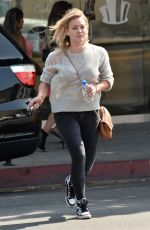 HILARY DUFF Out and About in Los Angeles 08/21/2015