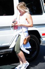 HILARY DUFF Out and About in West Hollywood 08/20/2015