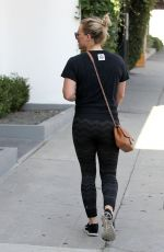 HILARY DUFF Out and About in West Hollywood 08/26/2015
