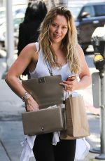 HILARY DUFF Out Shopping in Beverly Hills 07/31/2015