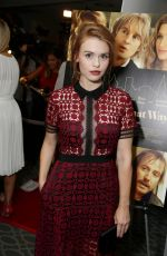 HOLLAND RODEN at She's Funny That Way Premiere in Los Angeles