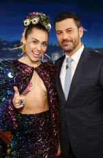 MILEY CYRUS at Jimmy Kimmel Live in Hollywood 08/27/2015