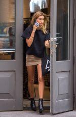 HAILEY BALDWIN Out Shopping in Soho 08/20/2015