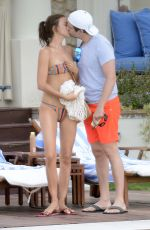 IRINA SHAYK in Bikini at a Pool in Capri 08/13/2015