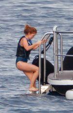 ISLA FISHER in Swimsuit in St. Tropez 08/22/2015