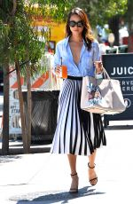 JAMIE CHUNG Leaves Clover Juice in West Hollywood 08/12/2015