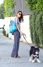JAMIE CHUNG Walks Her Dog Out in Sherman Oaks 08/03/2015