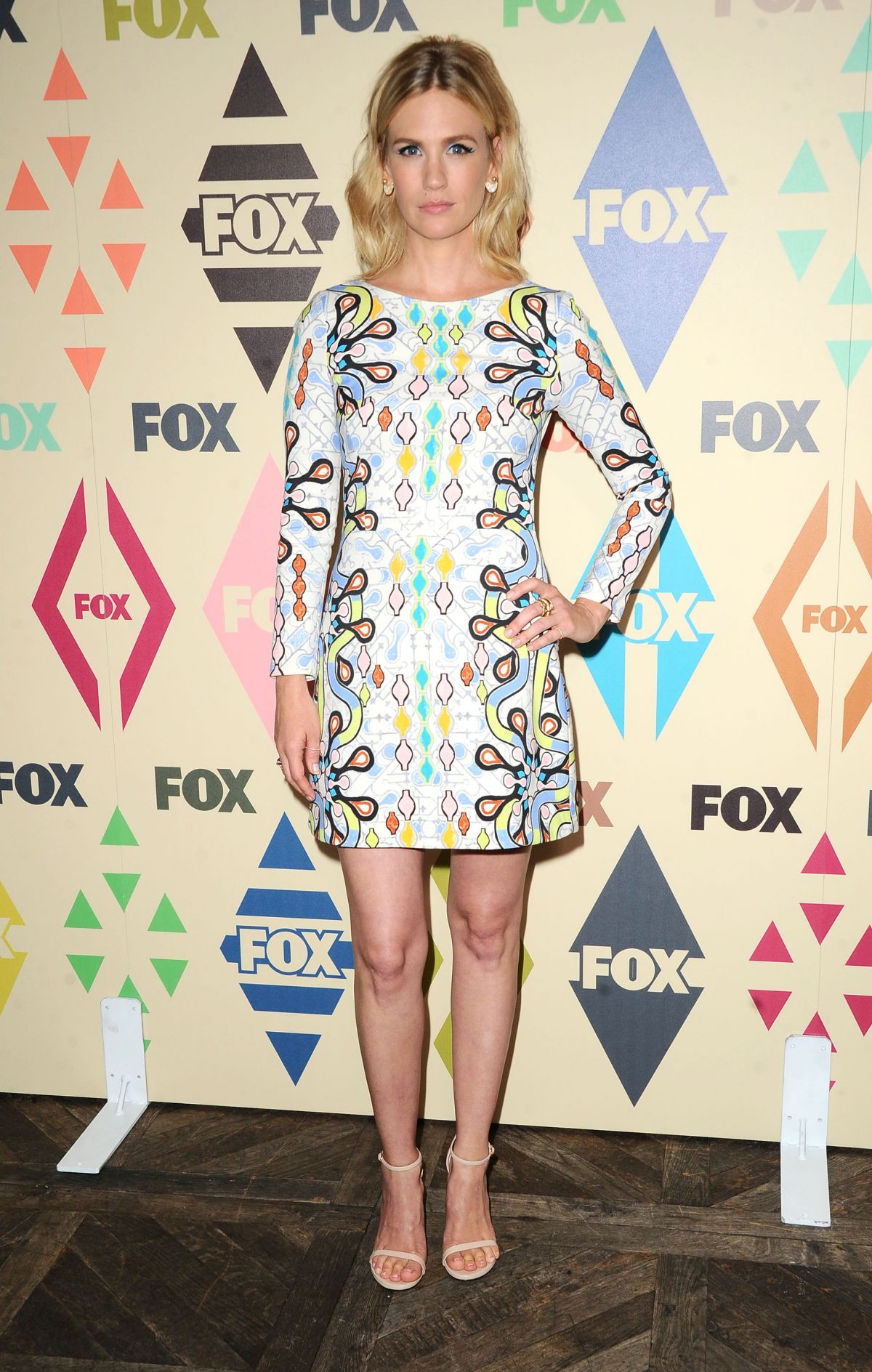 JANUARY JONES at Fox/FX Summer 2015 TCA Party in West Hollywood