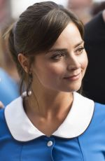 JENNA LOUISE COLEMAN on the Set of Doctor Who in Cardif 08/17/2015