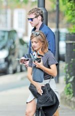 JENNA LOUISE COLEMN Out and About in London 08/16/2015