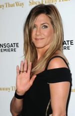 JENNIFER ANISTON at She's Funny That Way Premiere in Los Angeles