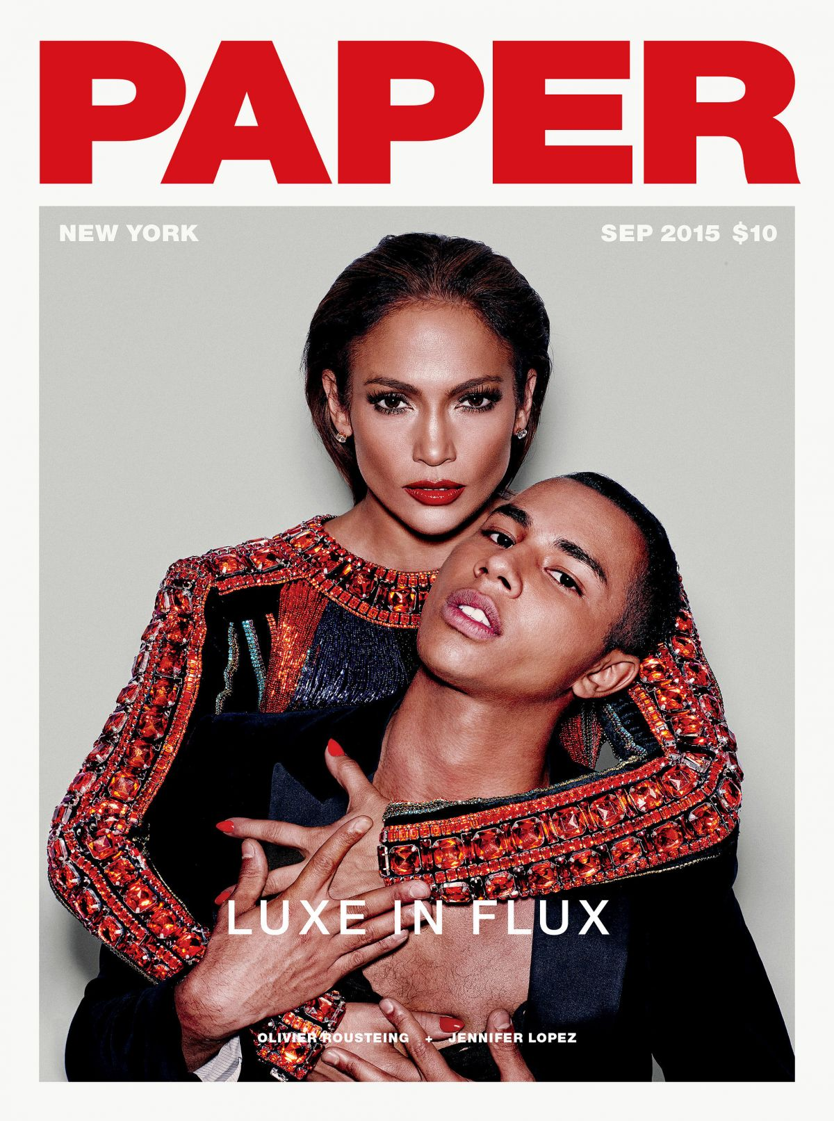 JENNIFER LOPEZ on the Cover of Paper Magazine, September 2015 Issue