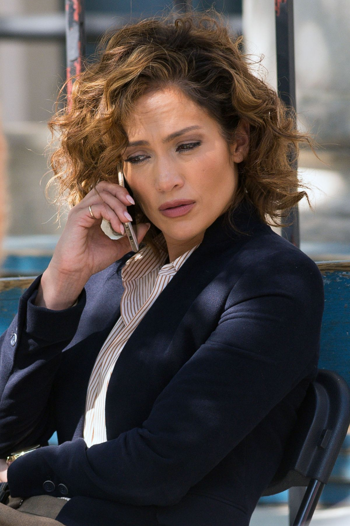 JENNIFER LOPEZ on the Set of Shades of Blue in New York 07/31/2015