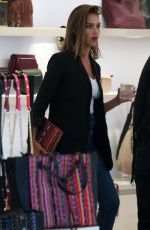JESSICA ALBA Shopping at Rebecca Minkoff Store in Hollywood 08/25/2015