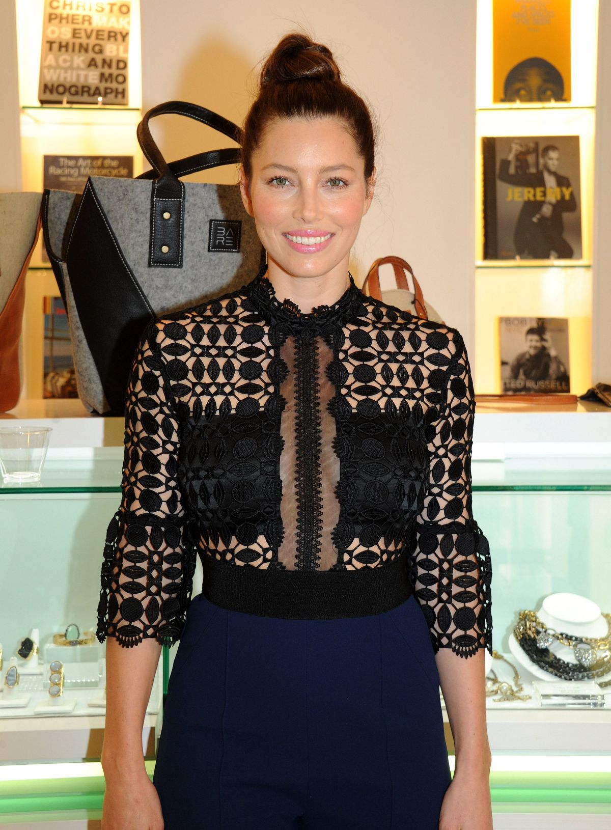 JESSICA BIEL at Bareitall + Bare AW15 Launch Event in Santa Monica ...