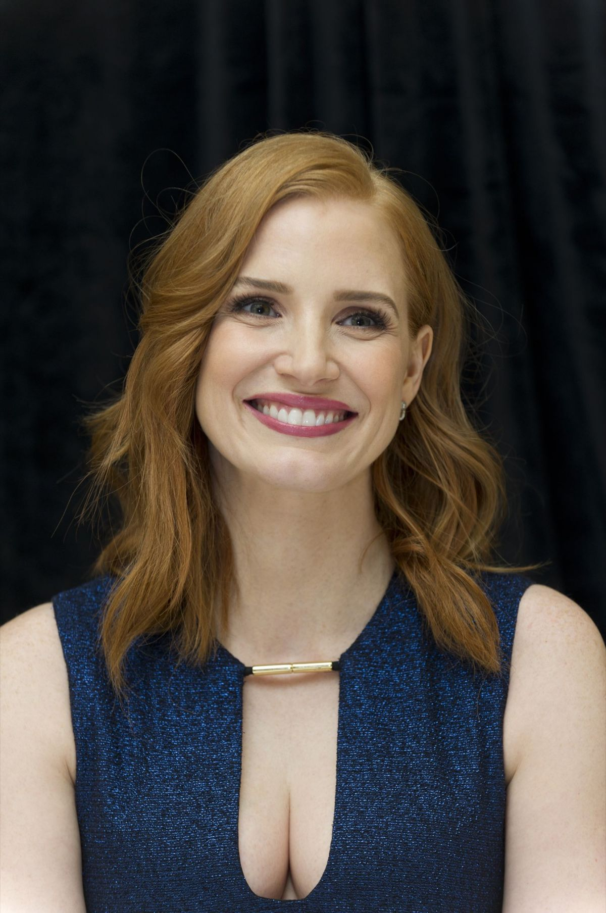 JESSICA CHASTAIN at The Martian Press Conference in New York ... Jessica Chastain