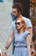 JESSICA CHASTAIN Out and About in New York 08/02/2015