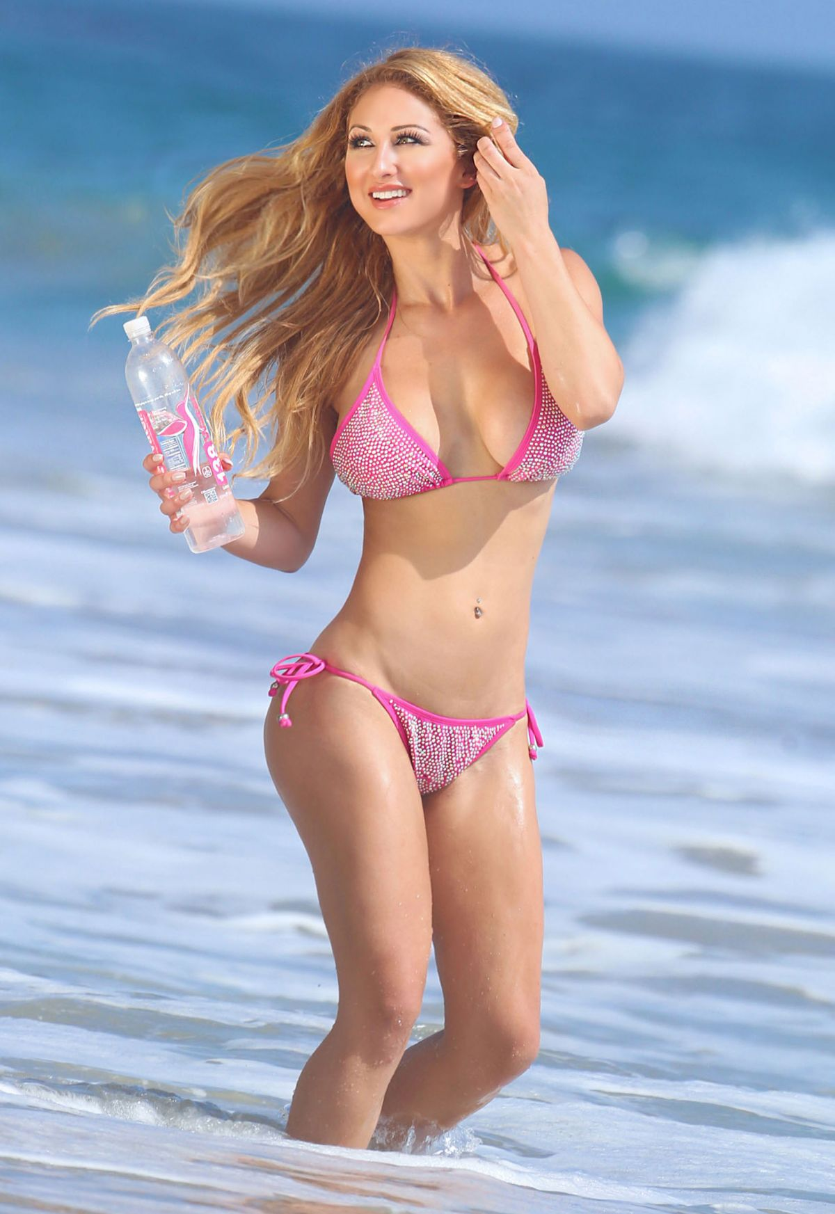 JESSICA MELODY in Bikini at Photoshoot for 138 Water in Malibu 08/27/2015