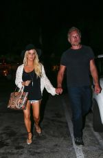 JESSICA SIMPSON Night Out in Calabasas 08/18/2015