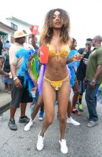 JOURDAN DUNN in Bikini at Kadooment Day in Barbados 08/03/2015