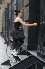 JU:IANNA MARGUILES Arrives at a Gym in New York 08/07/2015