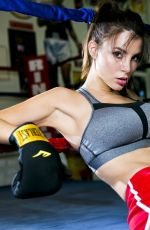 KACEY BARNFIELD on the Set of a Boxing Themed Photoshoot
