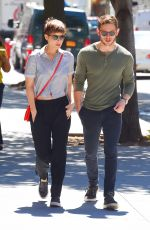 KATE MARA and Jamie Bell Out and About in New York 08/05/2015