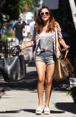 KATE WALSH in Jeans Shorts Out in Los Angeles 08/04/2015
