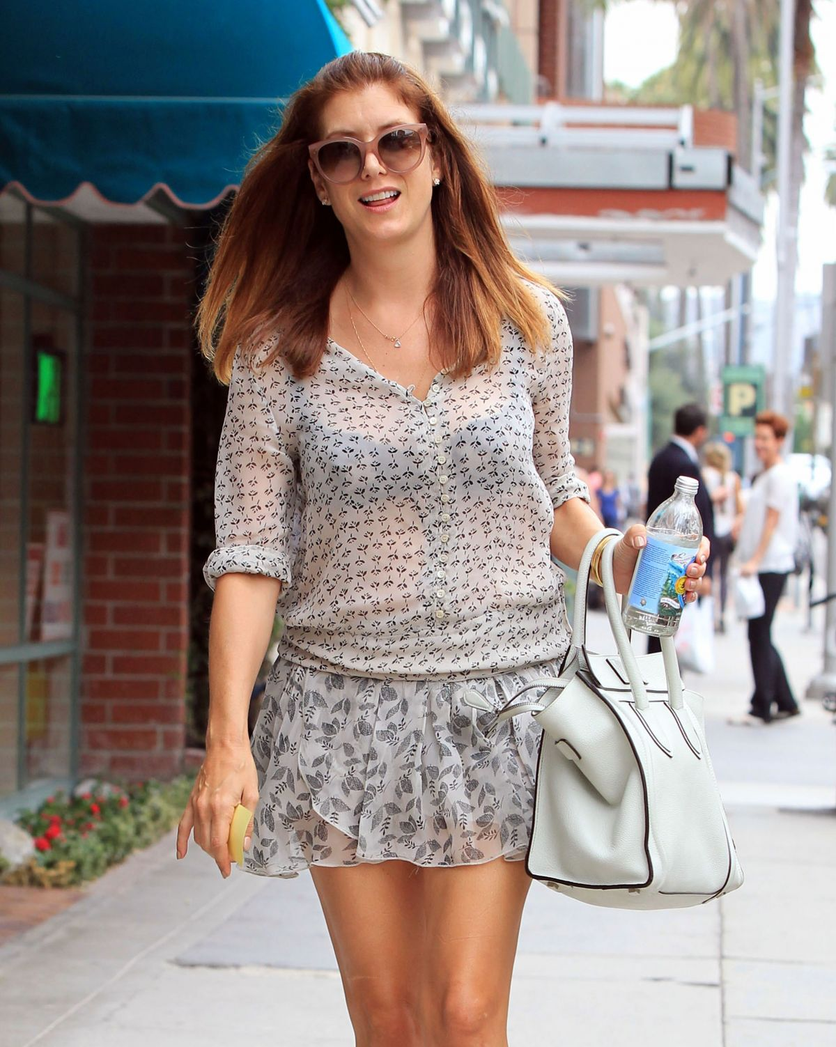 KATE WALSH in Short Skirt Out in Beverly Hills 08/06/2015