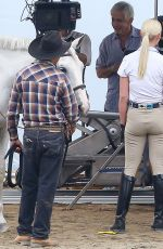 KATHERINE HEIGL on the Set of Unforgettable in Los Angeles 08/20/2015