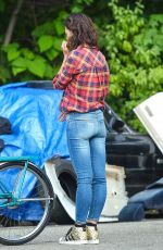 KATIE HOLMES in Jeans on the sSet of All We Had in New York 08/27/2015