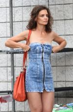 KATIE HOLMES on the Set of All We Had in New York 08/11/2015