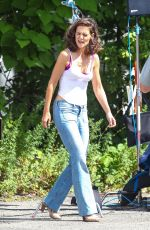 KATIE HOLMES on the Set of All We Had in New York 08/20/2015