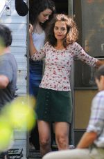 KATIE HOLMES on the Set of All We Had in New York 08/25/2015