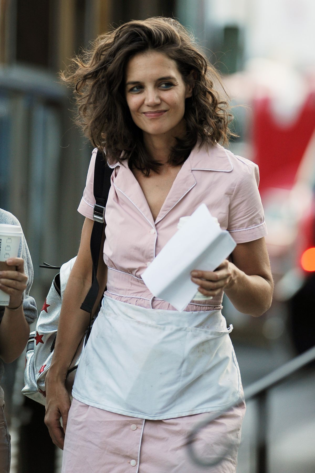 KATIE HOLMES on the Set of All We Had in New York 08/26 ... Katie Holmes
