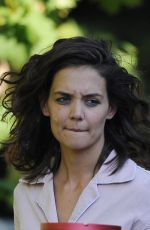 KATIE HOLMES on the Set of All We Had in New York 08/26/2015