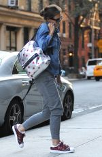 KATIE HOLMES Out and About in Manhattan 08/04/2015