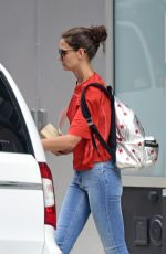 KATIE HOLMES Out and About in New York 08/24/2015