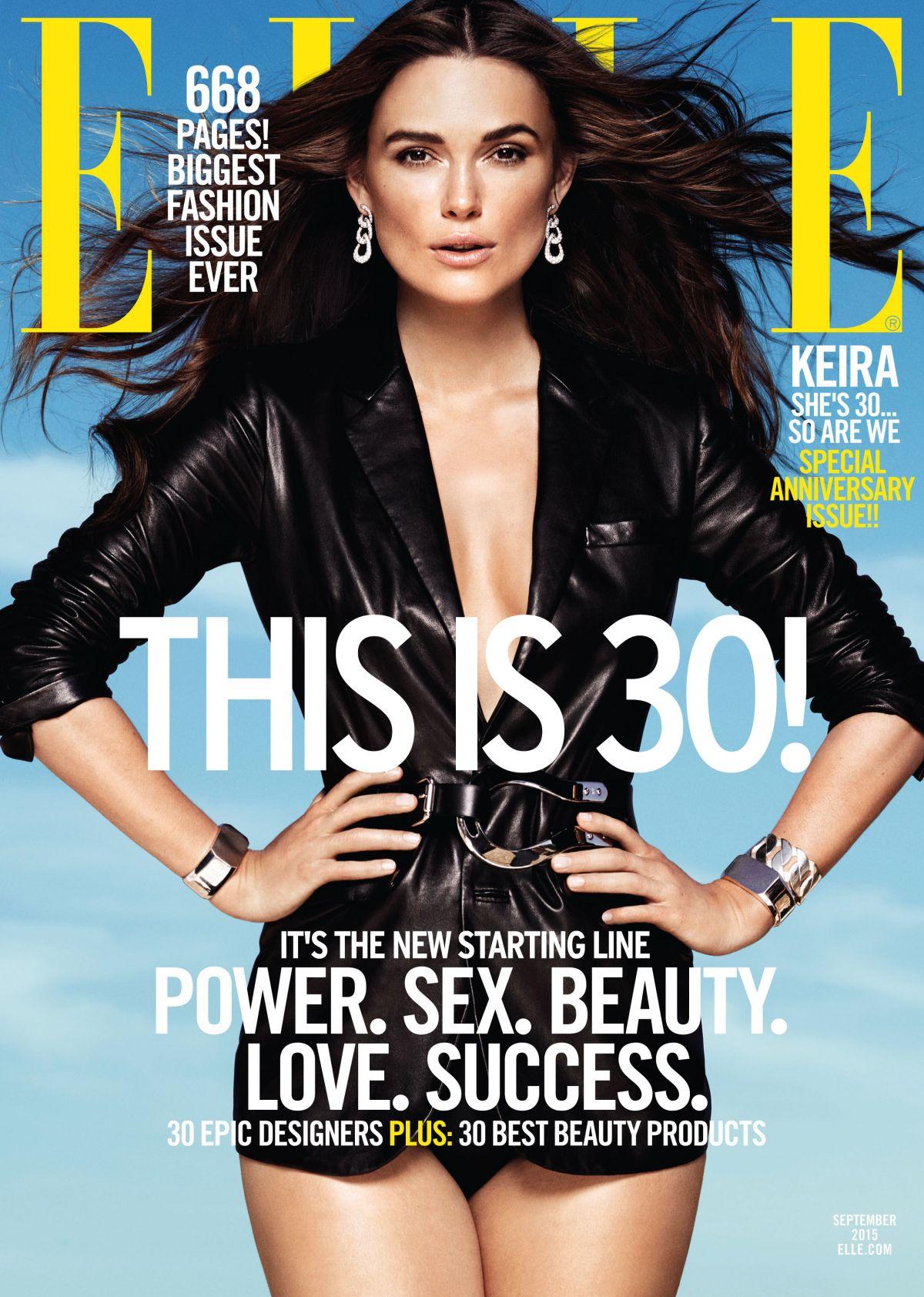 KEIRA KNIGHTLEY in Elle Magazine, September 2015 Issue