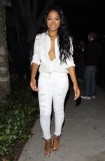 KEKE PALMER Leaves Chateau Marmont in West Hollywood 08/05/2015