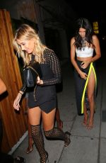 KENDALL JENNER and HAILEY BALDWIN at Nice Guy Restaurant in West Hollywood, 08/09/2015