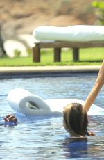 KENDALL JENNER and HAILEY BALDWIN in Bikinis on Vacation in Punta Mita 08/13/2015