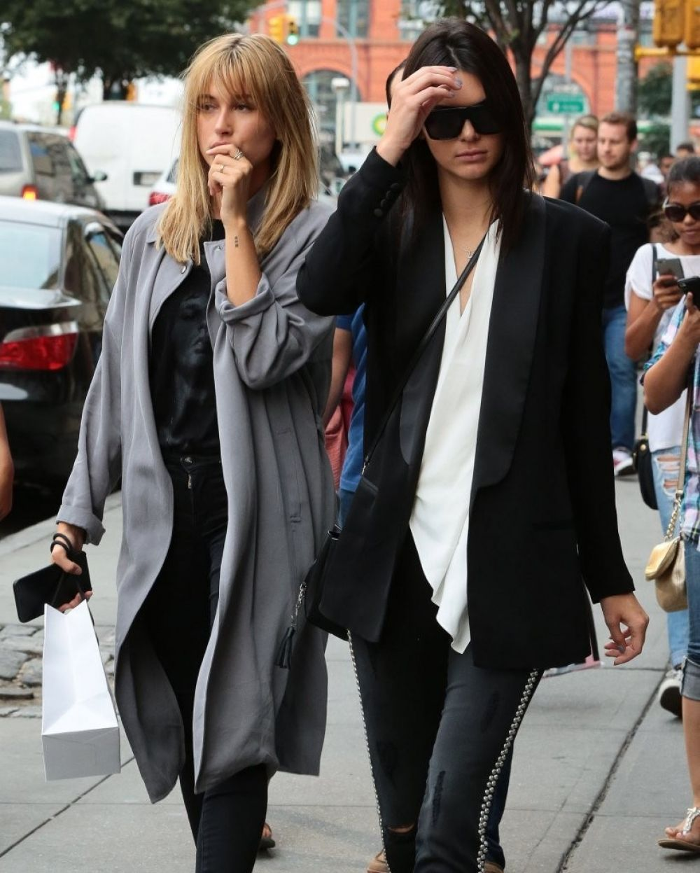 KENDALL JENNER and HAILEY BALDWIN Out and About in New York 08/30/2015
