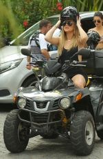 KENDALL JENNER and KHLOE KARDASHIAN Riding ATV
