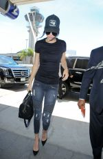 KENDALL JENNER in Jeans at LAX Airport in Los Angeles 08/05/2015